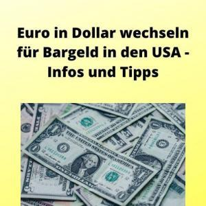 Euro in Dollar wechseln für Bargeld in den USA - Infos und Tipps